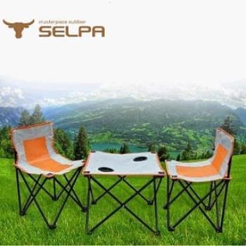 【韓國SELPA】戶外摺疊桌椅組(一桌兩椅)