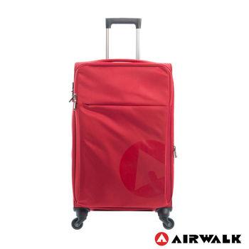 AIRWALK  LUGGAGE - 輕量系列 寄情物語行李箱 24吋拉鍊箱 - 秘密紅