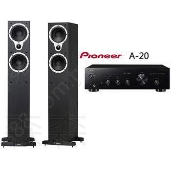 先鋒 Pioneer A-20 兩聲道綜合擴大機+TANNOY Eclipse Three 落地型主喇叭