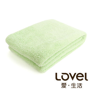 Lovel 全新升級第二代馬卡龍長絨毛纖維浴巾(青蘋綠)