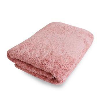 Lovel7倍強效吸水抗菌超細纖維浴巾(蜜桃粉)