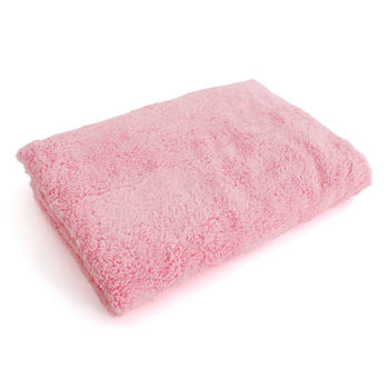 Lovel7倍強效吸水抗菌超細纖維浴巾(芭比粉)