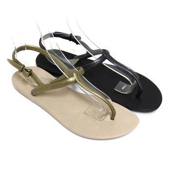 【Pretty】極簡T字夾腳涼鞋-金色、黑色