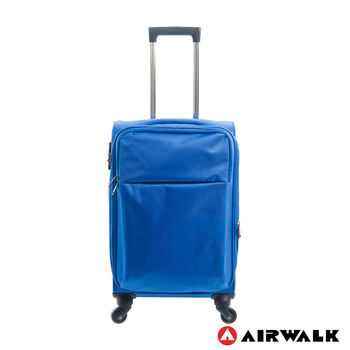 AIRWALK  LUGGAGE - 輕量系列 寄情物語行李箱 20吋拉鍊箱 - 晴語藍