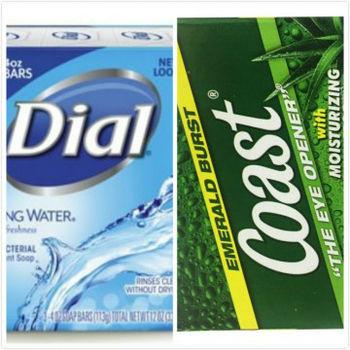 Dial Spring Water礦泉抗菌香皂(113g*3/組)*4 +Coas蘆薈運動體香皂(4oz/113g)*12