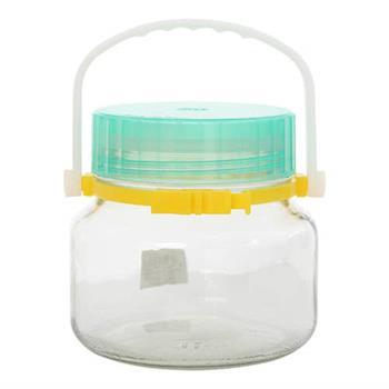 ADERIA 日本製石塚低型醃漬玻璃罐1L(綠)