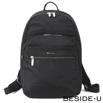 BESIDE-U - CREED系列實用經典百搭後背包 - 黑