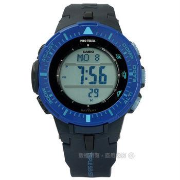 PRO TREK CASIO / PRG-300-2D / 卡西歐原野馳騁太陽能電子橡膠手錶 藍x深藍 43mm