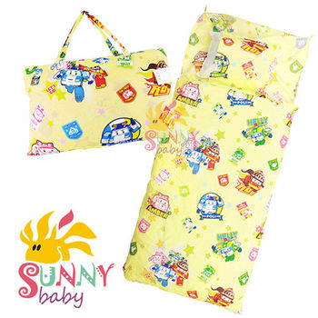 【Sunnybaby生活館】- 卡通造型幼教兒童睡袋-波力(黃)