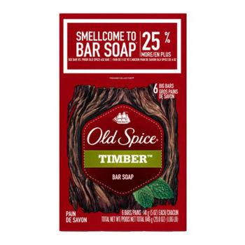 美國原裝Old Spice香水皂-Timber木香(5oz/141g)*2/組*6