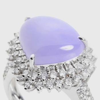 【絕世精品】緬甸天然翡翠A貨 冰種帝王紫戒指 B1078