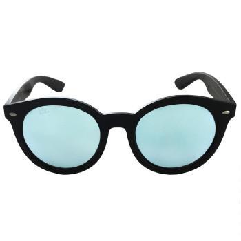 【Ray Ban 雷朋】RB4261D-601/30_流行復古大框/亞洲版太陽眼鏡(亮黑框#水銀鏡面)  偏光鏡面