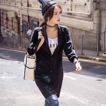 【理子時尚】韓版男友風西裝領棒球外套