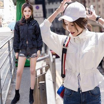 【理子時尚】韓風寬鬆抽繩風衣外套(共二色)
