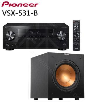Pioneer VSX-531-B 5.1聲道擴大機 + Klipsch R-10SW 家庭劇院 超重低音 喇叭
