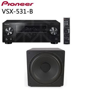 Pioneer VSX-531-B 5.1聲道擴大機 + ENERGY POWER 12 SUB 12吋 超重低音喇叭