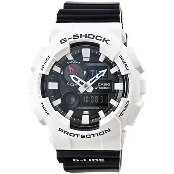 CASIO 卡西歐G-SHOCK 雙顯潮汐鬧鈴電子錶-白 / GAX-100B-7A