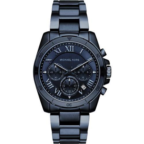 Michael Kors MK 羅馬假期三眼計時腕錶-藍/40mm MK6361