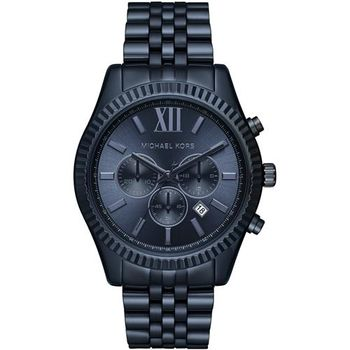 Michael Kors MK 羅馬假期三眼計時腕錶-藍/46mm MK8480