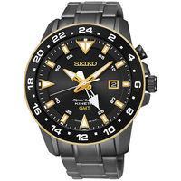 SEIKO 精工 Sportura GMT 二地時間人動電能黑潮腕錶 #47 44mm #