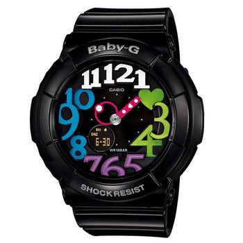 CASIO BABY-G 繽紛彩虹時刻霓虹照明休閒錶/43.1mm/BGA-131-1B2