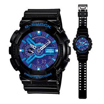 CASIO G-SHOCK 金屬重機多層次裝置造型腕錶-黑-55mm-GA-110HC-1A