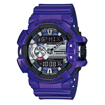 CASIO 卡西歐 G-SHOCK 智慧型藍芽雙顯時尚運動腕錶/55mm/GBA-400-2A