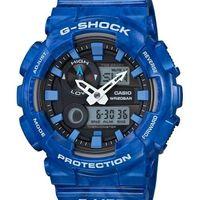 ~CASIO G #45 SHOCK~ 專屬衝浪潮汐 雙顯腕錶 #40 藍 GAX #45