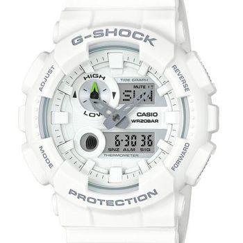 【CASIO G-SHOCK】極限運動衝浪潮汐錶(白GAX-100A-7ADR)