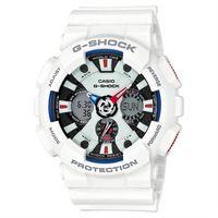 ~CASIO~G ^#45 SHOCK 極限競速 儀表板 三眼雙顯 腕錶 ^#45 白 ^