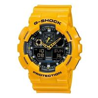 ~CASIO~G ^#45 SHOCK 重型機械感Man 錶 ^#45 黃 ^#40 GA