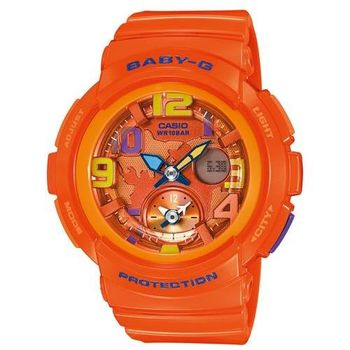 【CASIO BABY-G】海灘旅行雙顯錶(BGA-190-4B橘)
