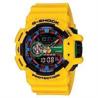 ~CASIO~G ^#45 SHOCK 第五次元積木撞色雙顯 錶 ^#45 搶眼黃 ^#4