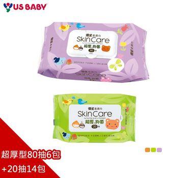 優生嬰兒柔濕巾超厚80抽6包+20抽14包