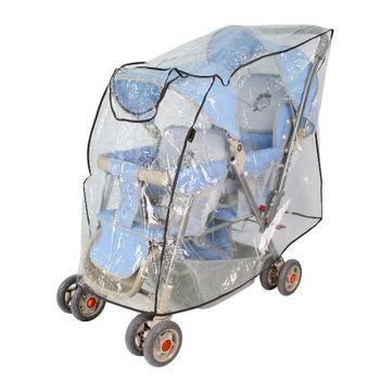 Yip baby 雙人推車專用防風雨罩 展開約110x45x68cm