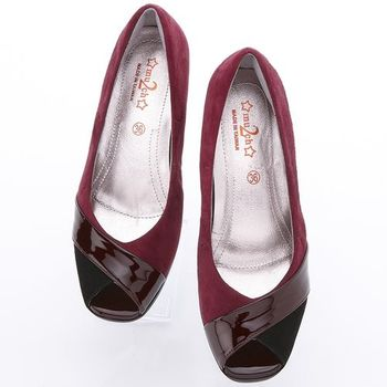 2MUCH羊絨革優雅舒適魚口楔型跟鞋-獨