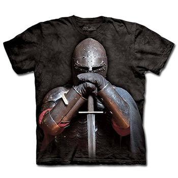 【摩達客】(預購)(男/女童裝)美國進口The Mountain 盔甲騎士 純棉環保短袖T恤