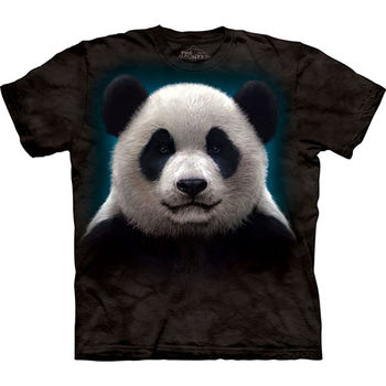 【摩達客】(預購)(男/女童裝)美國進口The Mountain 熊貓頭 純棉環保短袖T恤