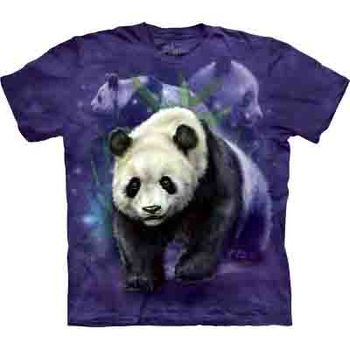 【摩達客】(預購)(男/女童裝)美國進口The Mountain 熊貓群 純棉環保短袖T恤