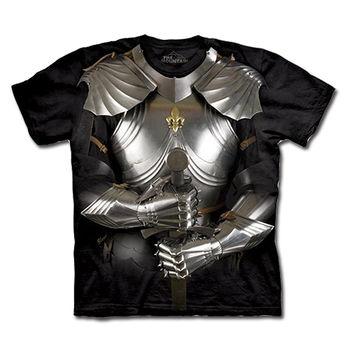 【摩達客】(預購)(男/女童裝)美國進口The Mountain 變身盔甲 純棉環保短袖T恤
