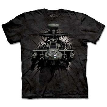 【摩達客】(預購)(男/女童裝)美國進口The Mountain 突破直升機 純棉環保短袖T恤