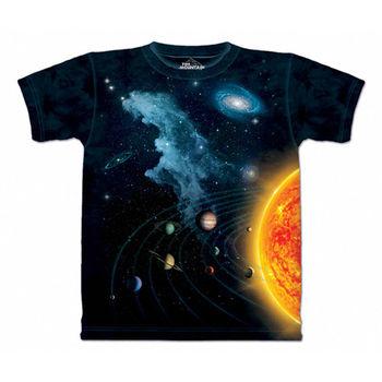 【摩達客】(預購)(男/女童裝)美國進口The Mountain 太陽系 純棉環保短袖T恤