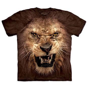 【摩達客】(預購)(男/女童裝)美國進口The Mountain 獅吼臉 純棉環保短袖T恤