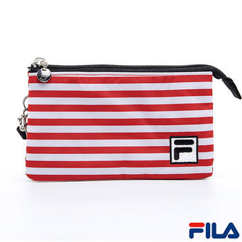 FILA多功能條紋手拿包(甜心紅)PWQ-5501-RD