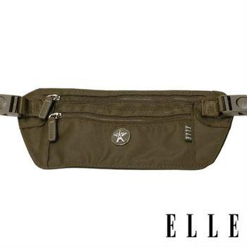 【ELLE】法式優雅時尚 旅行隨身收納包/票券包/手機包(叢林綠 EL83477-04)