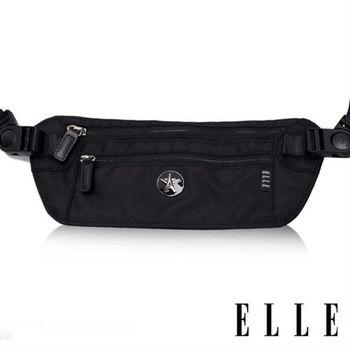 【ELLE】法式優雅時尚 旅行隨身收納包/票券包/手機包(黑色 EL83477-02)