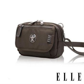 【ELLE】法式優雅時尚 旅行隨身收納包/票券包/手機包(叢林綠 EL83472-04)