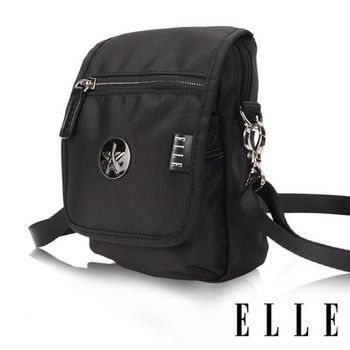 【ELLE】法式優雅時尚 旅行隨身收納包/票券包/手機包(黑色 EL83473-02)
