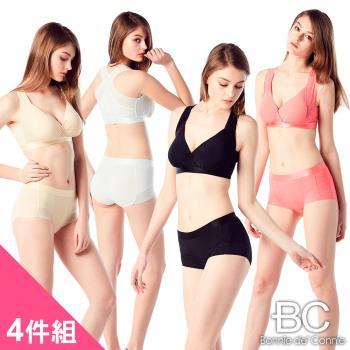 【法國BC】天使性感蕾絲內褲4件組