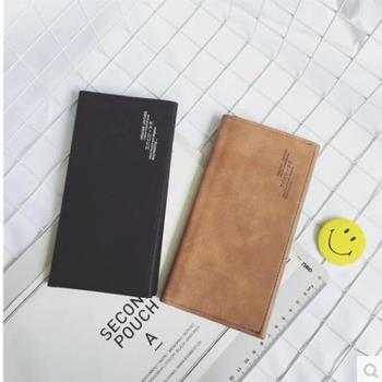 【協貿國際】日系青年超薄皮夾潮流學生豎款錢夾男士磨砂一個